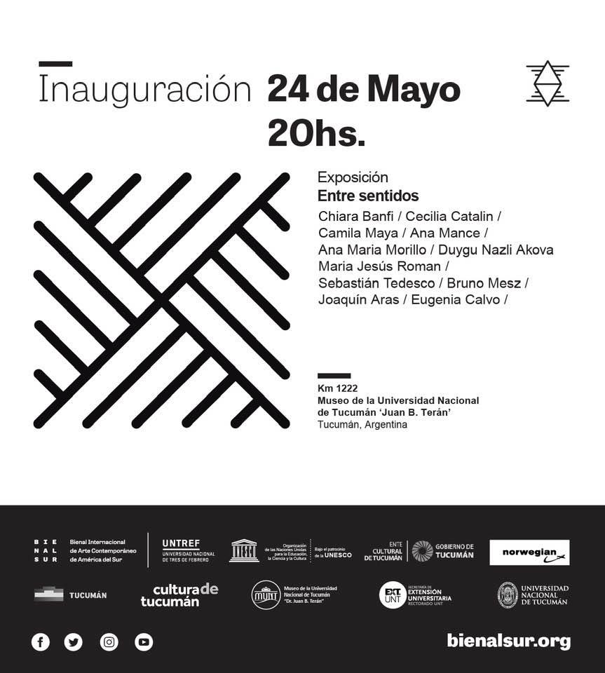 Inauguración de la muestra Entre Sentidos en la Universidad Nacional de Tucumán (Mayo 2019)