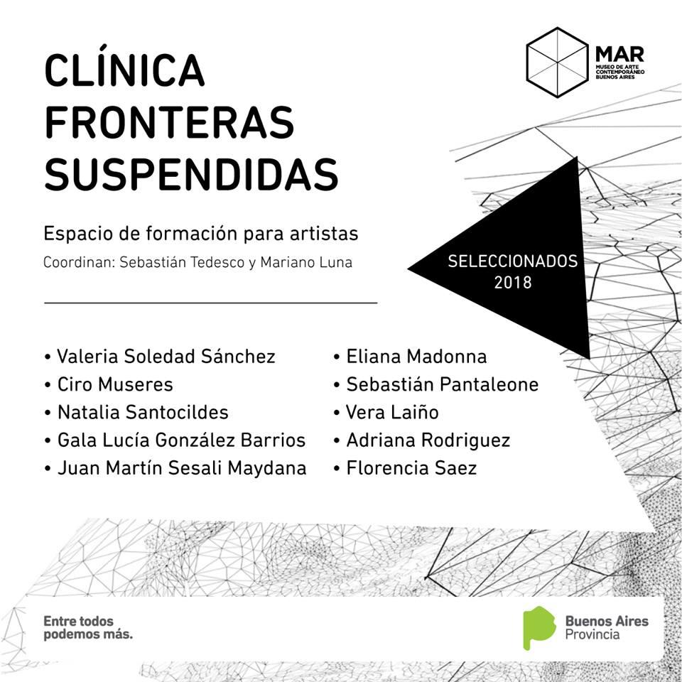 Exhibición final de cierre del proceso anual de la clínica Fronteras Suspendidas (Noviembre 2018)