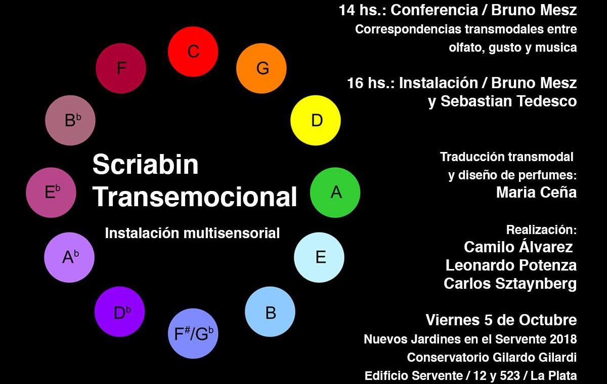 Scriabin Transemocional: Conferencia acerca de nuestro trabajo en Transmodalidad en el Conservatorio Gilardo Gilardi (Octubre 2018)